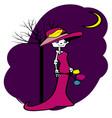 skeleton lady vector image vector image