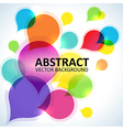 Spectrum abstract shapes background vector image vector image