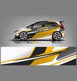 sport car racing wrap design design vector image vector image
