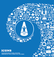 Spotlight icon Nice set of beautiful icons vector image vector image