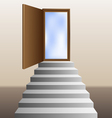 stairs leading to an open door vector image