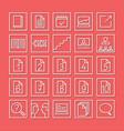 study symbols set icons vector image