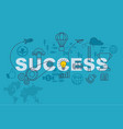 success banner background design concept vector image vector image