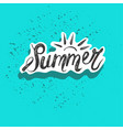 summer word with tropical leaves season sale vector image