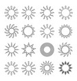 sun outline flat set vector image vector image
