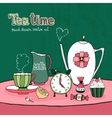 Teatime Party Card vector image vector image
