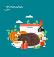 thanksgiving day flat style design vector image vector image