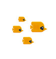 The flock of tropical butterfly fish isolated on