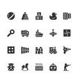 toys icon set in glyph style vector image vector image