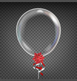 transparent balloon red bow party vector image vector image