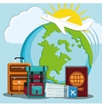 Travel icons design vector image vector image