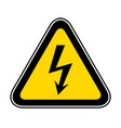 triangular warning hazard symbol vector image