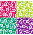 tropical flowers patterns vector image vector image