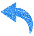 undo grunge icon vector image vector image