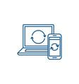 update computer data line icon concept update vector image vector image