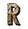 vintage alphabet letter r colorful concept vector image vector image