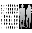 fashion silhouette collection vector image