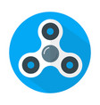 white fidget spinner icon flat style vector image
