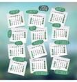 Calendar design English vector image