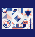 abstract blue and orange geometric pattern vector image