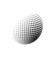 abstract halftone 3d sphere design halftone ball vector image vector image