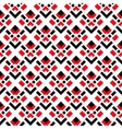 Abstract White Red Black Seamless Pattern vector image