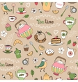 Afternoon tea seamless background pattern vector image vector image