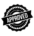 Approved stamp rubber grunge vector image vector image