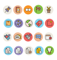 Basic Colored Icons 4 vector image