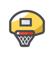 basketball backboard with a basket vector image