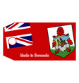 bermuda flag on price tag vector image vector image