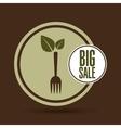 big sale natural food healthy vector image vector image