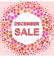 Big winter sale poster with DECEMBER SALE text vector image vector image