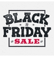 Black friday sale lettering on chalklboard vector image vector image