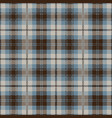 blue and brown tartan plaid seamless pattern vector image vector image
