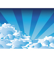 Blue Sky with Clouds6 vector image vector image