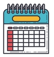 calendar reminder date isolated icon vector image