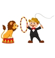 Cartoon Lion Tamer with lion vector image