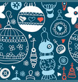 chalkboard pattern with christmas balls xmas art vector image vector image