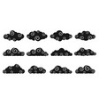 chinese clouds black color different shapescloud vector image