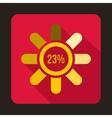Circle loading 23 percent icon flat style vector image