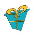 color gift box ribbon decorative sketch vector image vector image