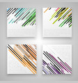 colorful business labels vector image vector image