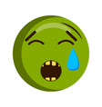 crying injured emoji icon vector image