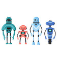 cute detailed robot set isolated cartoon vector image