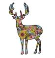 deer silhouette christmas vector image vector image