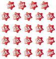 discount labels380x400 vector image vector image