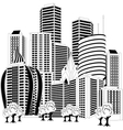 Downtown skyline vector image vector image
