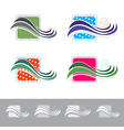 Fabric or Textile Logo vector image vector image