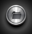 folder metallic icon vector image